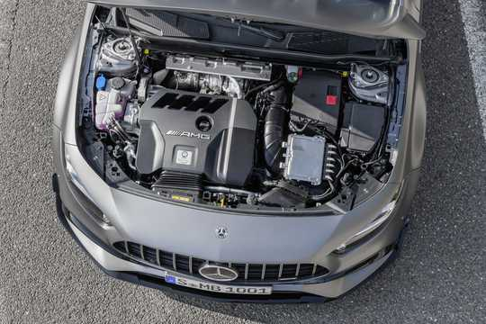 Engine compartment  of Mercedes-Benz AMG A 45 S 4MATIC+  8G-DCT, 421hp, 2020
