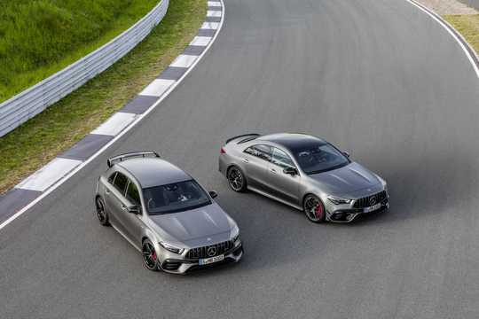 Front/Side  of Mercedes-Benz AMG A 45 S 4MATIC+  8G-DCT, 421hp, 2020