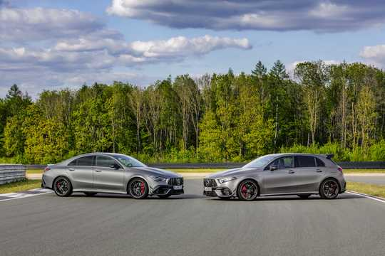 Side  of Mercedes-Benz AMG A 45 S 4MATIC+  8G-DCT, 421hp, 2020