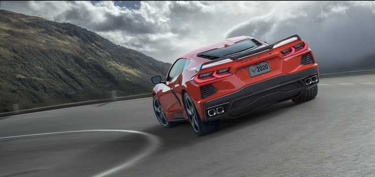 Back/Side of Chevrolet Corvette 6.2 V8 DCT, 502hp, 2020