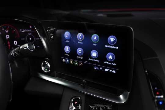 Interior of Chevrolet Corvette 6.2 V8 DCT, 502hp, 2020
