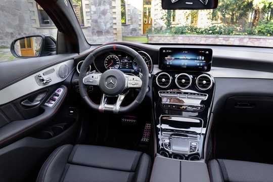 Interior of Mercedes-Benz AMG GLC 43 4MATIC Coupé  , 390hp, 2020