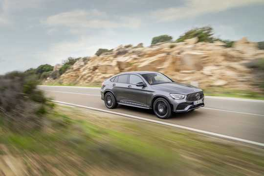 Front/Side  of Mercedes-Benz AMG GLC 43 4MATIC Coupé  , 390hp, 2020