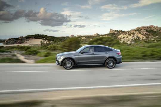 Side  of Mercedes-Benz AMG GLC 43 4MATIC Coupé  , 390hp, 2020
