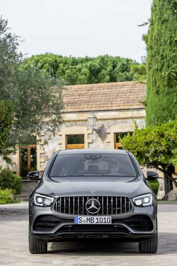 Front  of Mercedes-Benz AMG GLC 43 4MATIC Coupé  , 390hp, 2020