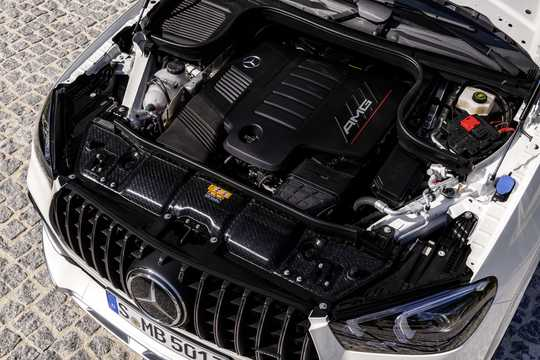 Engine compartment  of Mercedes-Benz AMG GLE 53 4MATIC+ Coupé  9G-Tronic, 435hp, 2020