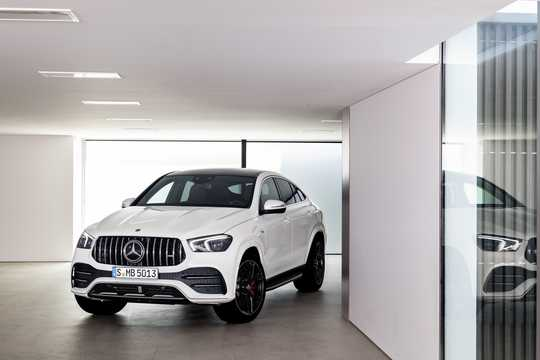 Front/Side  of Mercedes-Benz AMG GLE 53 4MATIC+ Coupé  9G-Tronic, 435hp, 2020