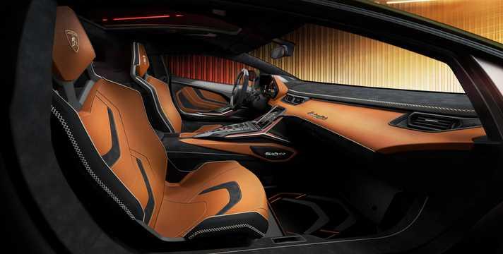 Interior of Lamborghini Sián 6.5 V12 ISR, 819hp, 2020