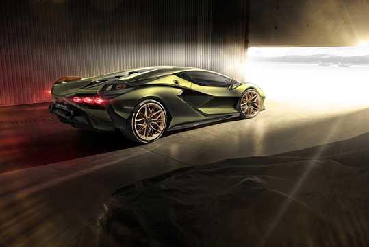 Back/Side of Lamborghini Sián 6.5 V12 ISR, 819hp, 2020