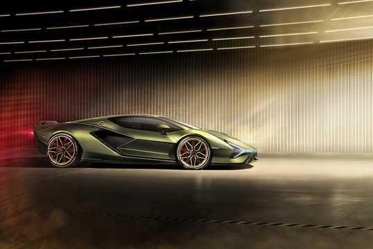 Side  of Lamborghini Sián 6.5 V12 ISR, 819hp, 2020