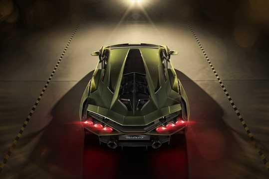Back of Lamborghini Sián 6.5 V12 ISR, 819hp, 2020