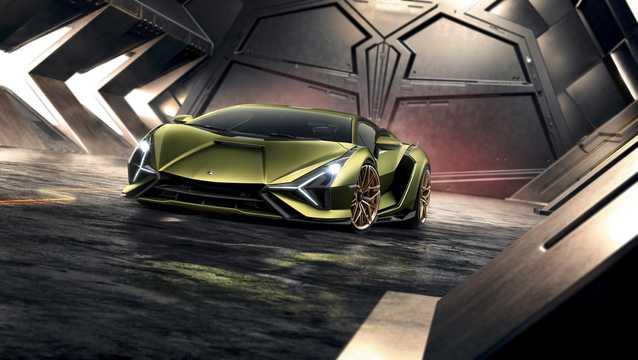 Front/Side  of Lamborghini Sián 6.5 V12 ISR, 819hp, 2020