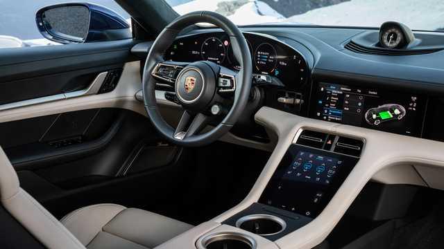 Interior of Porsche Taycan Turbo  Single Speed, 680hp, 2020