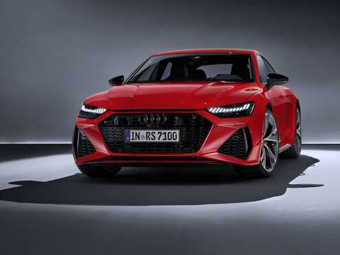 Front/Side  of Audi RS 7 Sportback  TipTronic, 600hp, 2020