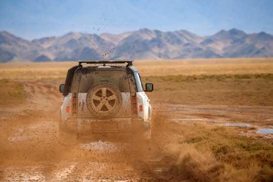 Back of Land Rover Defender 110 Station Wagon 2020