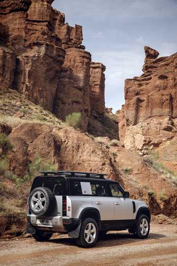 Back/Side of Land Rover Defender 110 Station Wagon 2020