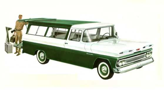 Front/Side  of Chevrolet C10 Suburban Carryall 3.9 137hp, 1960
