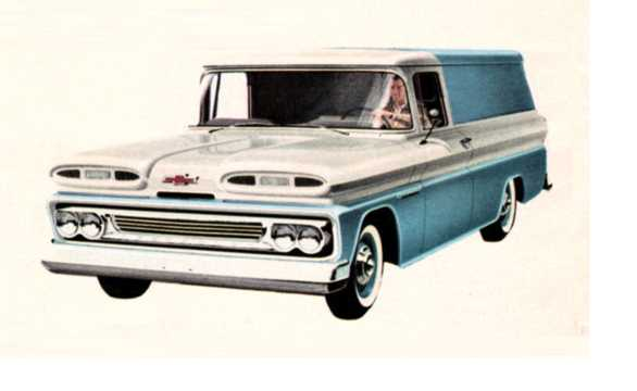 Front/Side  of Chevrolet Apache C10 Panel 3.9 137hp, 1960