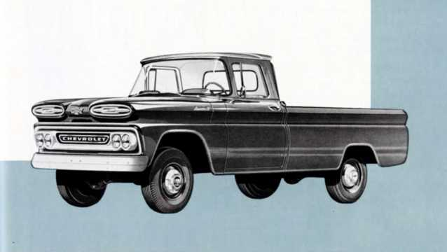 Front/Side  of Chevrolet Apache K10 3.9 4WD 137hp, 1961