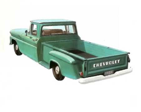 Back/Side of Chevrolet Apache C30 3.9 137hp, 1961