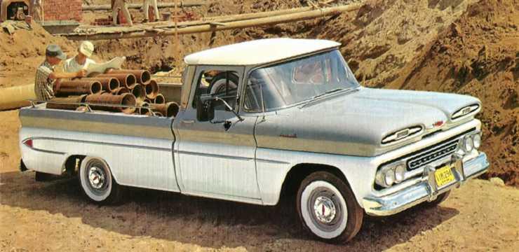 Fram/Sida av Chevrolet Apache C20 4.6 V8 162hk, 1961