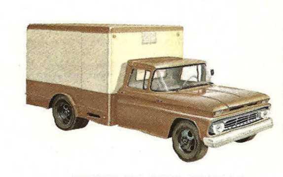 Fram/Sida av Chevrolet C30 3.9 137hk, 1962