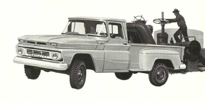 Fram/Sida av Chevrolet K10 3.9 4WD 137hk, 1962