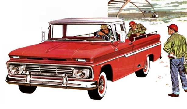 Fram/Sida av Chevrolet C20 3.9 137hk, 1962