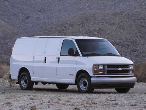 Front/Side  of Chevrolet Express 1500 Cargo Van 1996
