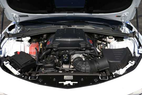 Engine compartment  of Callaway Camaro SC630  Hydra-Matic, 639hp, 2017