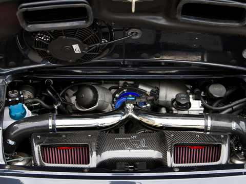 Engine compartment  of 9FF GTurbo 1200 3.9 H6 Sequential, 1200hp, 2009