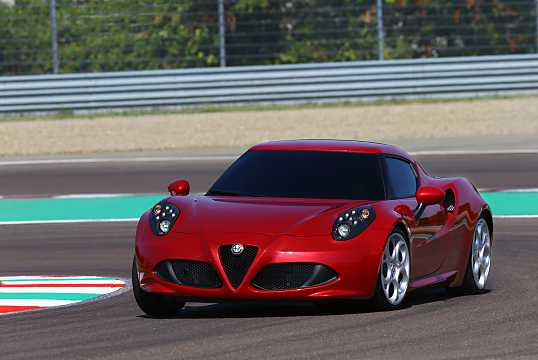Front/Side  of Alfa Romeo 4C 1.75 TBi DCT, 240hp, 2014