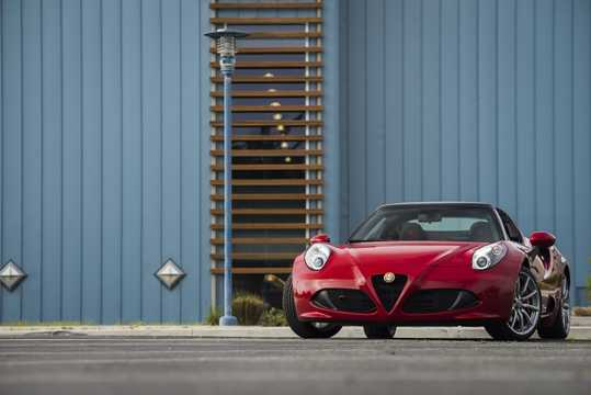Front/Side  of Alfa Romeo 4C Spider 1.75 TBi DCT, 240hp, 2015
