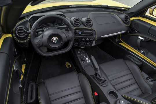 Interior of Alfa Romeo 4C Spider 1.75 TBi DCT, 240hp, 2015