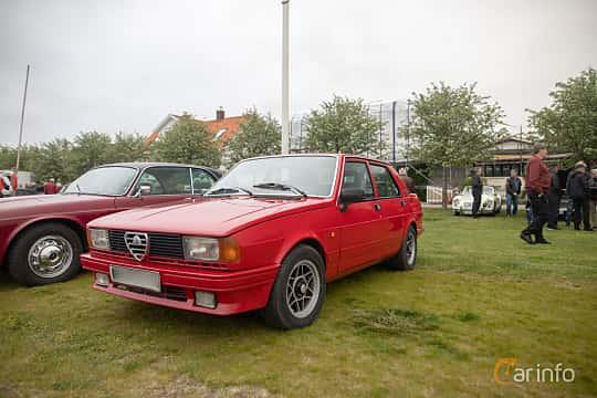 Front/Side  of Alfa Romeo Giulietta 1.8 Manual, 122ps, 1979 at Veteranbilsträff i Vikens hamn  2019 Maj