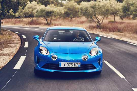 Front  of Alpine A110 1.8 TCe EDC, 252hp, 2018