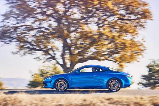 Side  of Alpine A110 1.8 TCe EDC, 252hp, 2018