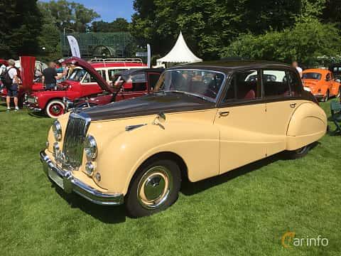 Fram/Sida av Armstrong Siddeley Sapphire 346 3.4 Manual, 120ps, 1953 på Sofiero Classic 2018