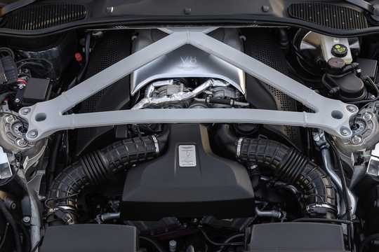 Engine compartment  of Aston Martin DB11 4.0 V8 Automatic, 510hp, 2017