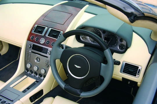 Interior of Aston Martin DB9 Volante 2008