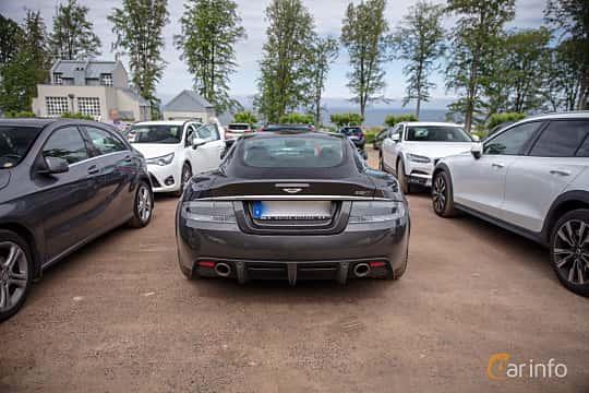 Back of Aston Martin DBS 5.9 V12 Automatic, 517ps, 2011 at Rolls-Royce och Bentley, Norrviken Båstad 2019