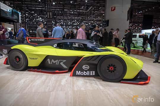 Side  of Aston Martin Valkyrie AMR Pro 6.5 V12 Concept, 1115ps, 2018 at Geneva Motor Show 2019