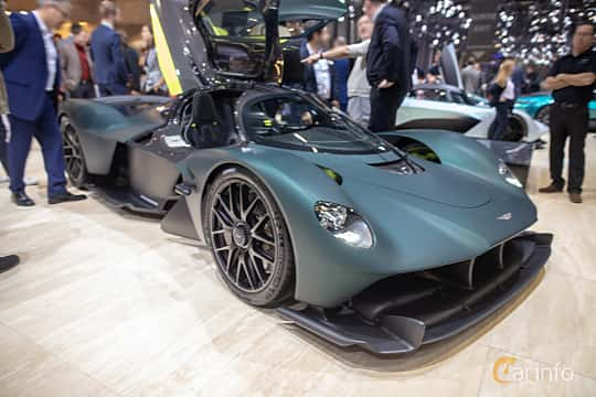 Front/Side  of Aston Martin Valkyrie 6.5 V12 DCT, 1146ps, 2019 at Geneva Motor Show 2019