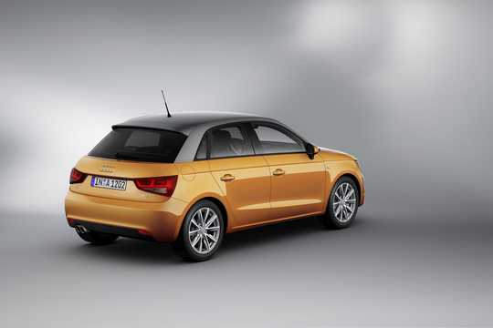 Back/Side of Audi A1 Sportback 2012