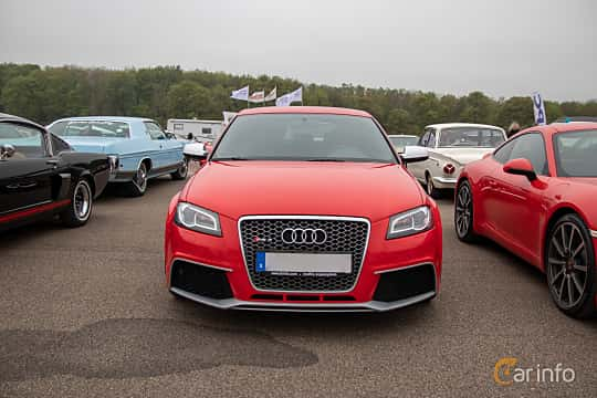 Front  of Audi RS 3 Sportback 2.5 TFSI quattro S Tronic, 340ps, 2012 at Lucys motorfest 2019