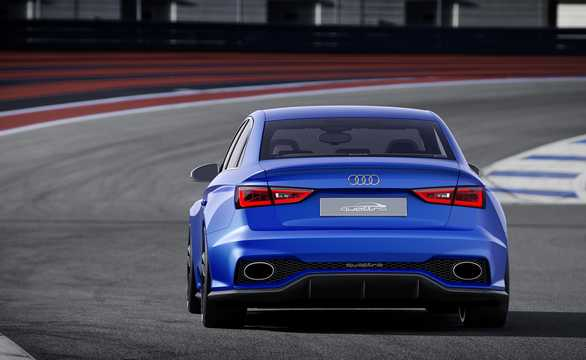 Back/Side of Audi A3 Clubsport quattro 2.5 TFSI quattro S Tronic, 532hp, 2014