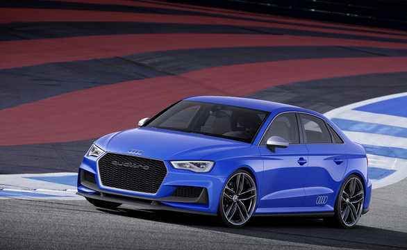 Front/Side  of Audi A3 Clubsport quattro 2.5 TFSI quattro S Tronic, 532hp, 2014