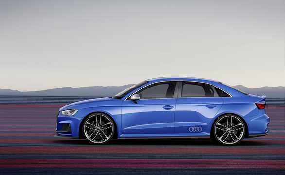 Side  of Audi A3 Clubsport quattro 2.5 TFSI quattro S Tronic, 532hp, 2014