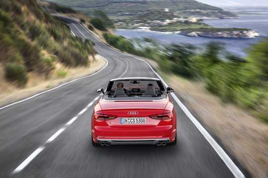 Back of Audi S5 Cabriolet 3.0 TFSI V6 quattro TipTronic, 354hp, 2017