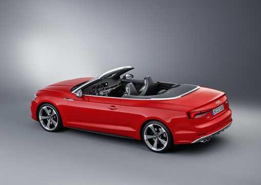 Back/Side of Audi S5 Cabriolet 3.0 TFSI V6 quattro TipTronic, 354hp, 2017